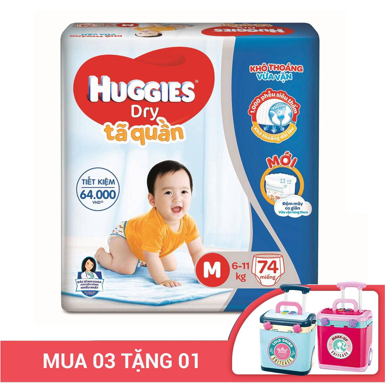 Bỉm - Tã quần Huggies size M - 74 miếng (Cho bé 6 - 11kg)