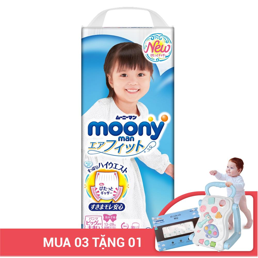 Bỉm - Tã quần Moony size XXL bé gái 26 miếng