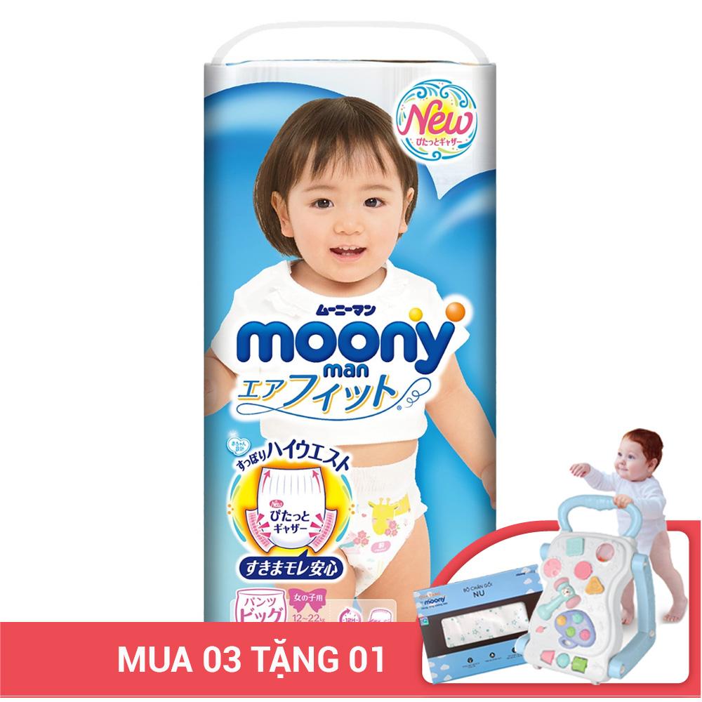 Bỉm - Tã quần Moony size XL bé gái 38 miếng