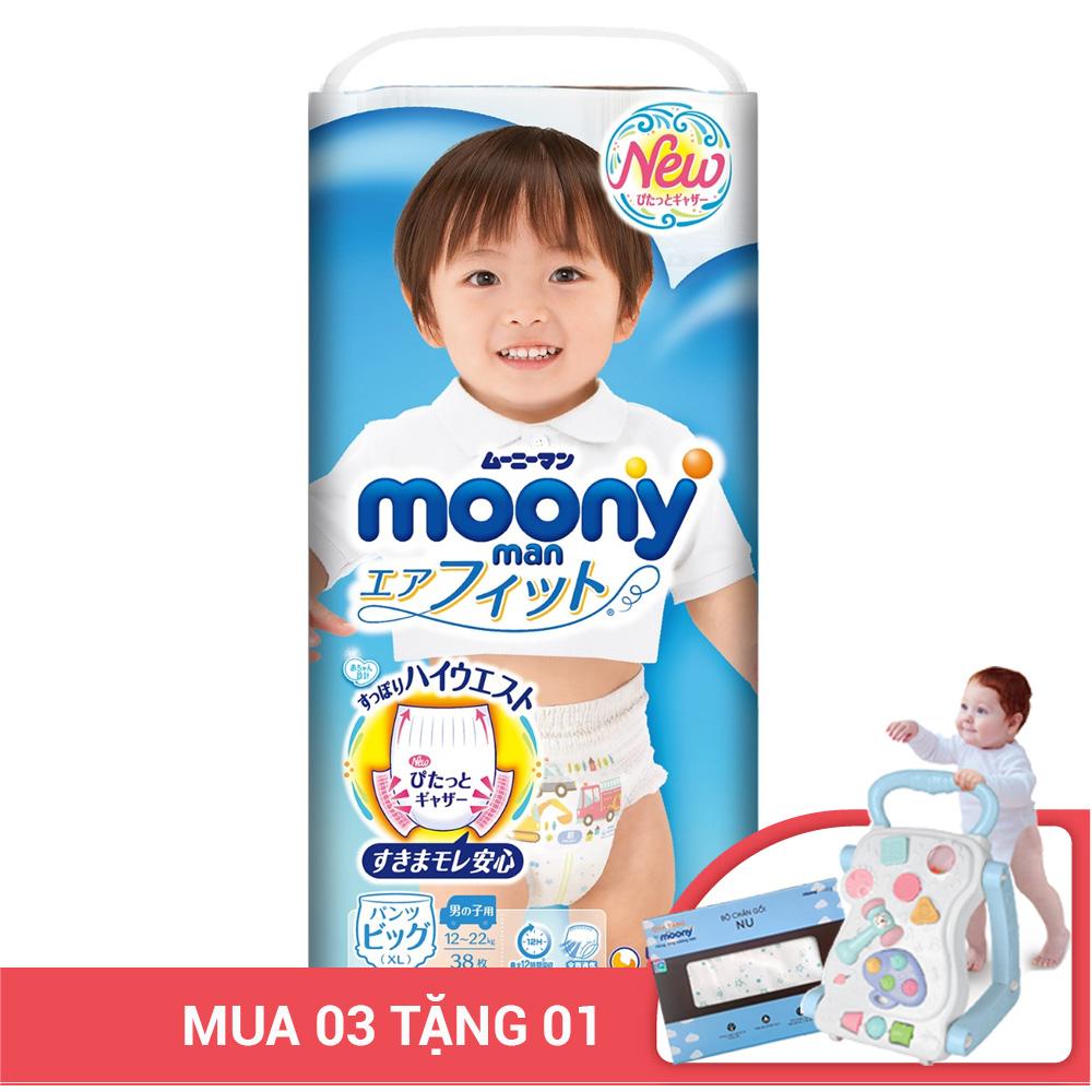 Bỉm - Tã quần Moony size XL - 38 miếng cho bé trai (Cho bé 12 - 17kg)