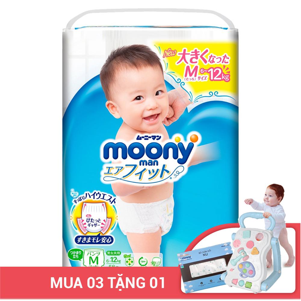 Bỉm - Tã quần Moony man size M 58 miếng