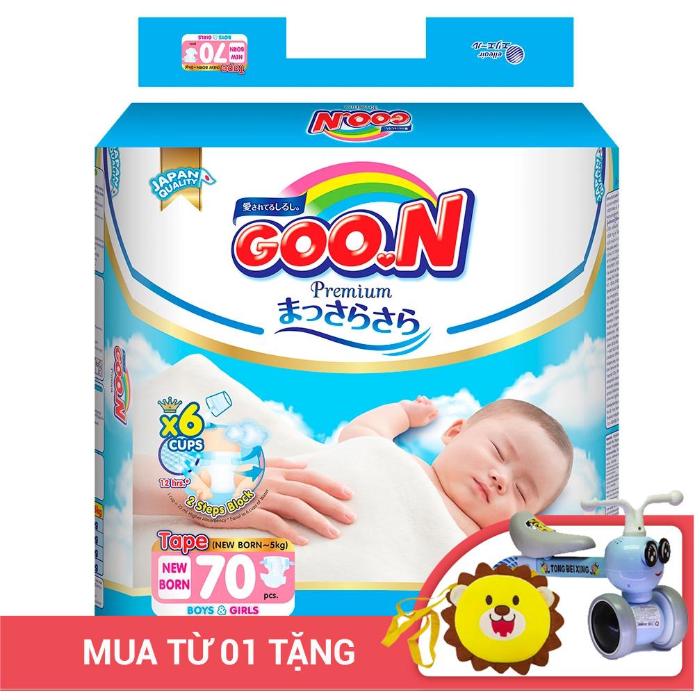 Bỉm - Tã dán Goon Premium size NB - 70 miếng (Cho bé ~ 5kg)