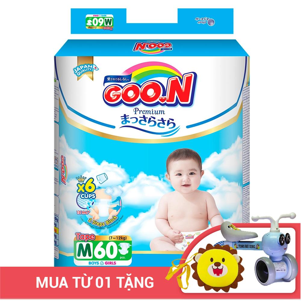 Bỉm - Tã dán Goon Premium size M - 60 miếng (Cho bé 7 - 12kg)