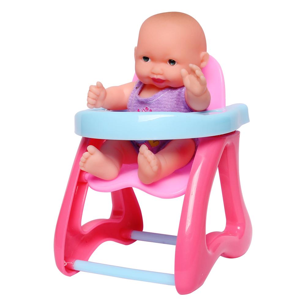 Búp bê baby ngồi ghế ăn hồng NM19.14-9106A/F