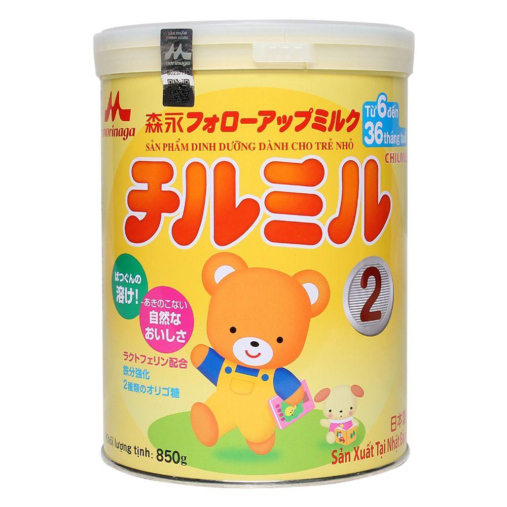 Sữa Morinaga Chimil số 2 850g (6 - 36 tháng)