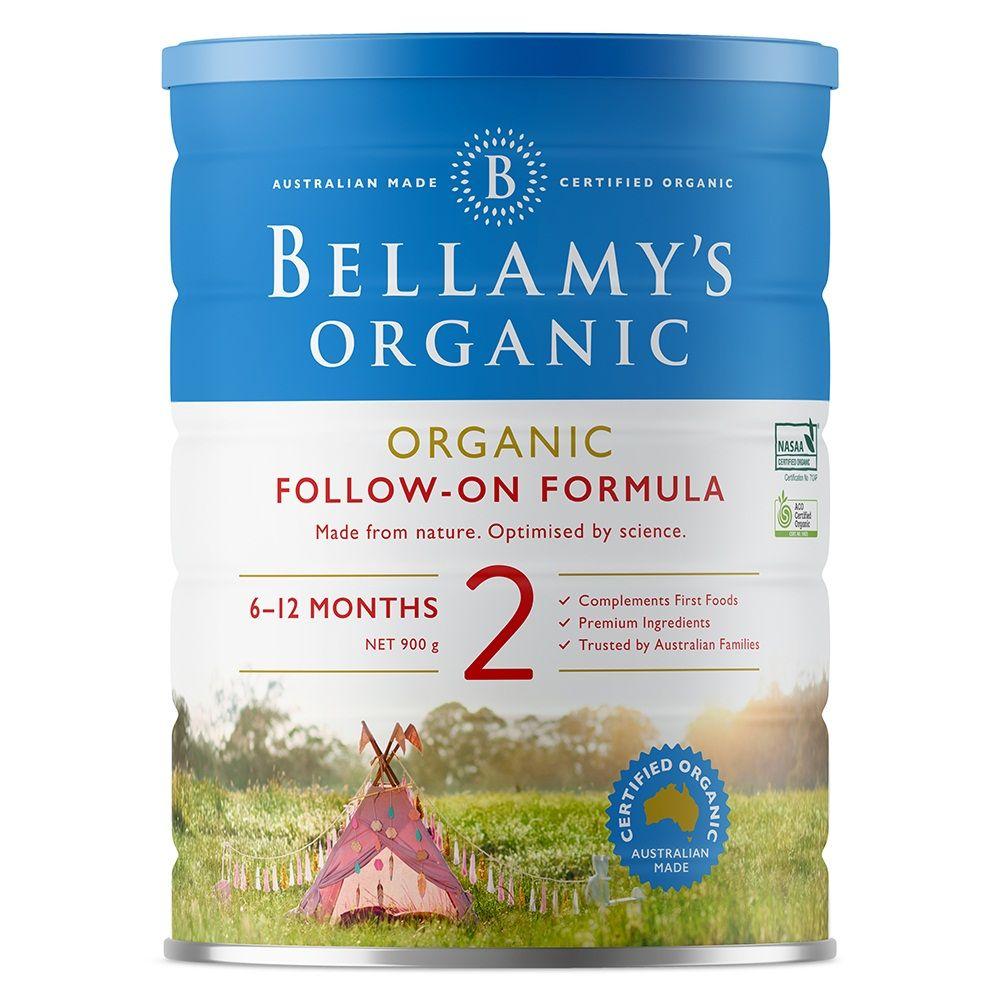 Sữa Bellamy's Organic Follow-On số 2 900g (6 - 12 tháng)