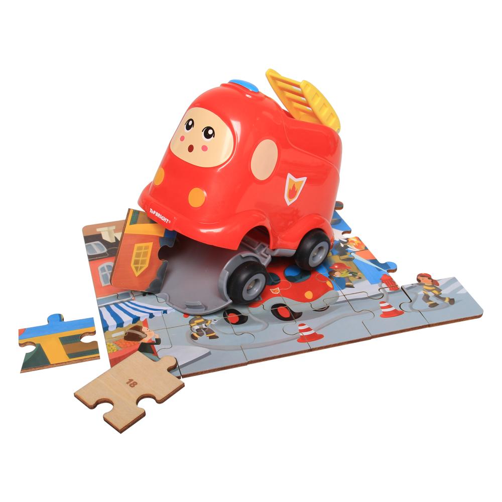Đồ chơi gỗ ToP BRIGHT ghép hình xe cứu hỏa NM19.33-130907