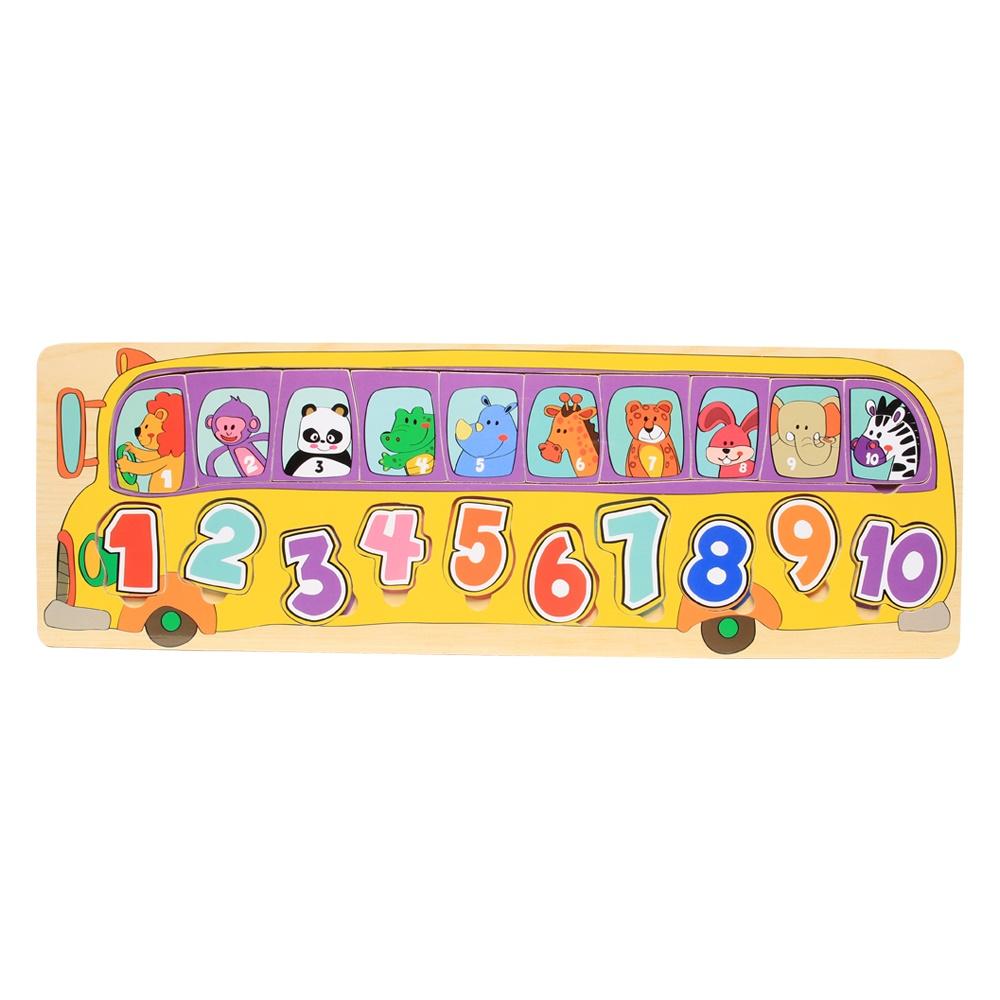 Đồ chơi gỗ ToP BRIGHT xe bus số NM19.03-130761