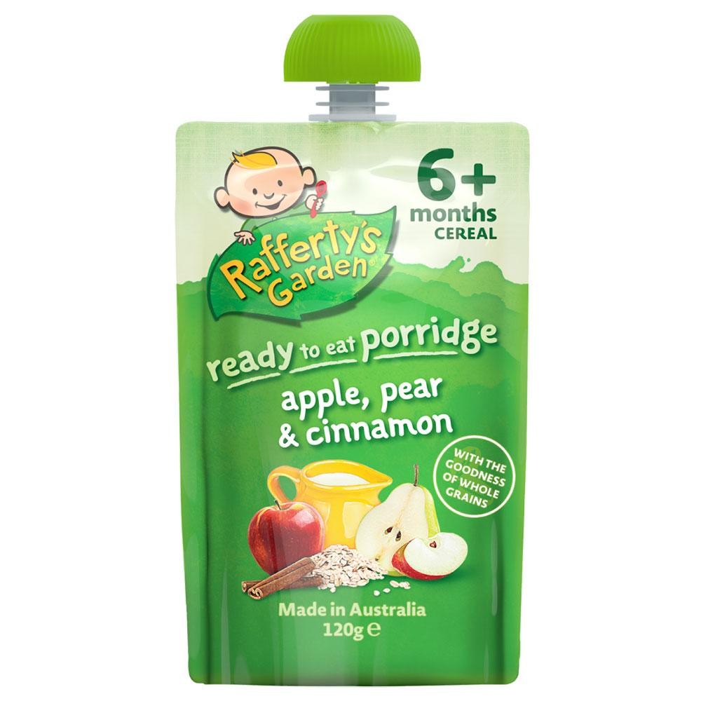 Dinh dưỡng Rafferty's Garden ngũ cốc, lê, táo, quế 120g (Trên 6 tháng)