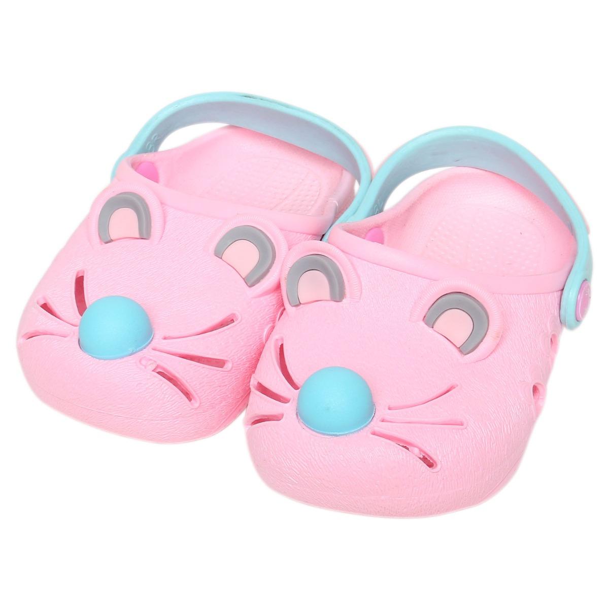 Giày nhựa JiaJiaBear chuột hồng