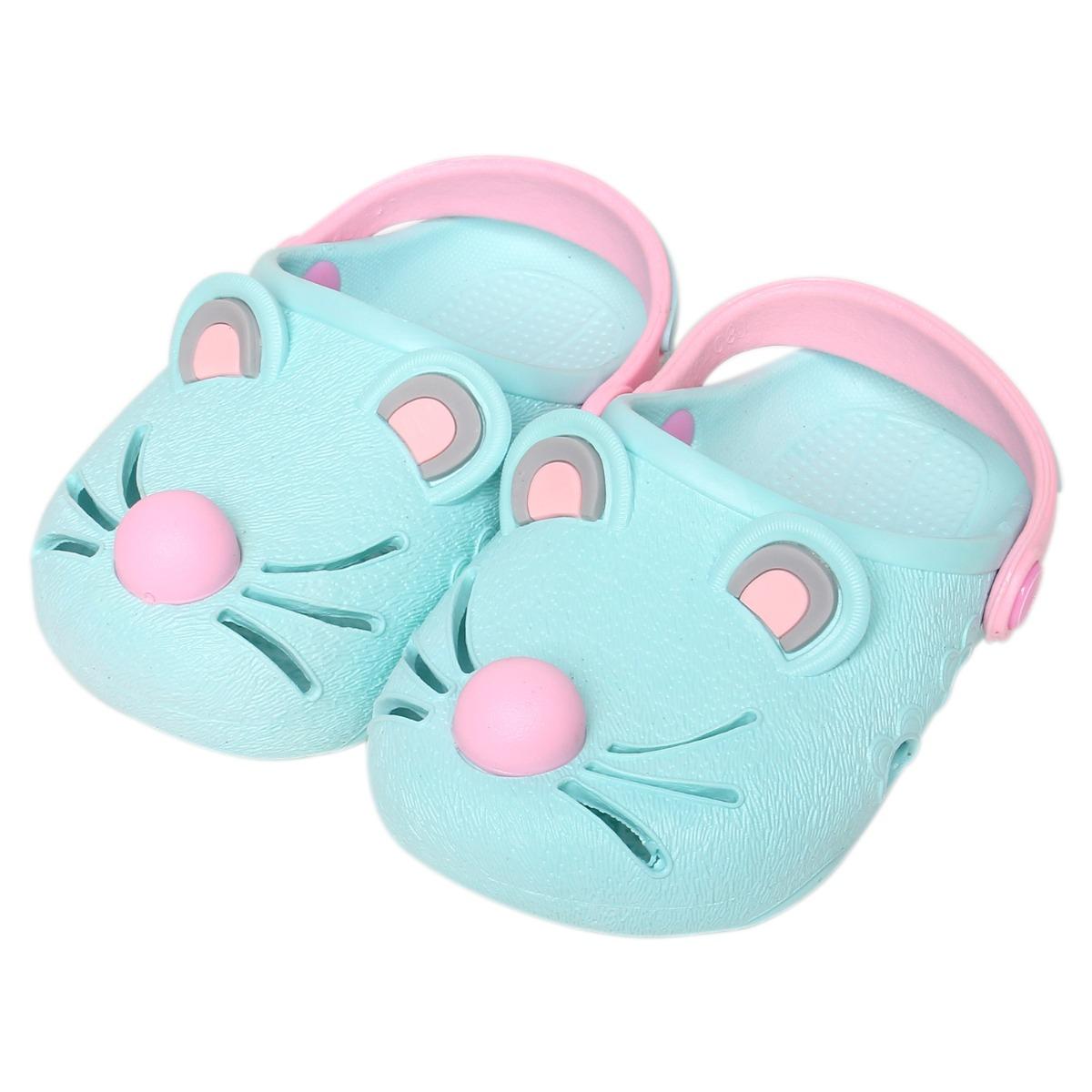 Giày nhựa JiaJiaBear chuột xanh