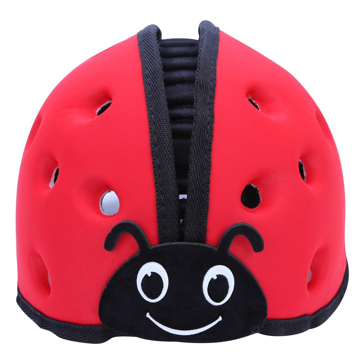 Mũ bảo hiểm trẻ em MumGuard màu đỏ