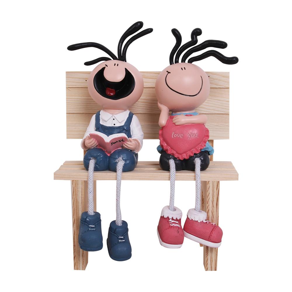 Bộ đôi hề ngồi đọc sách love HD038S (Không gồm ghế)