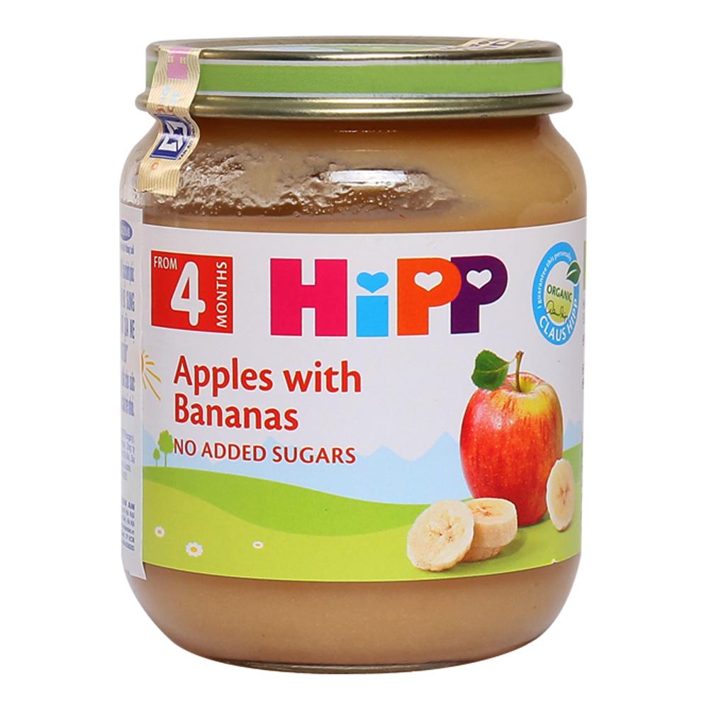 Dinh dưỡng đóng lọ HiPP chuối, táo 125g (Trên 4 tháng)