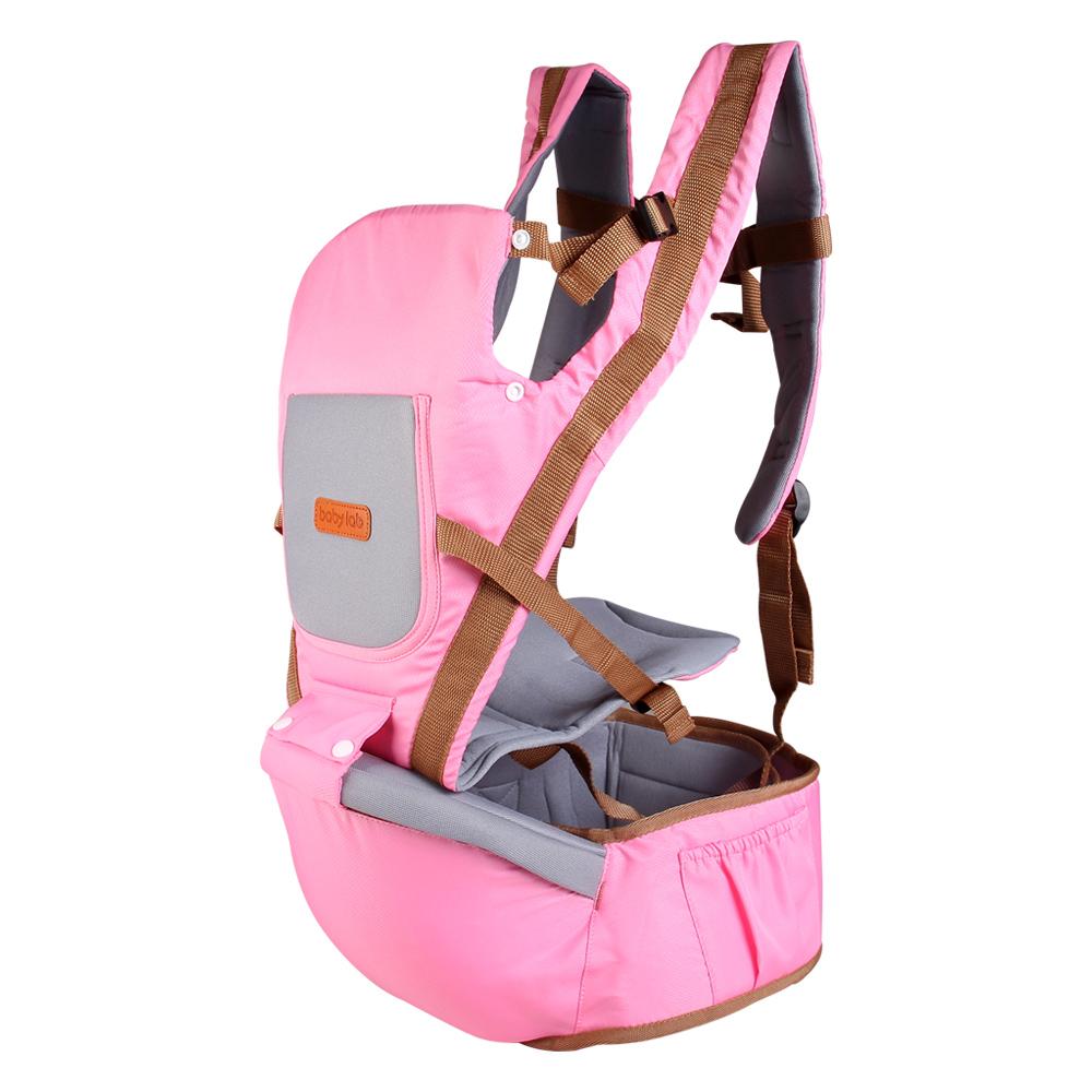 Địu ngồi em bé Baby Lab màu hồng