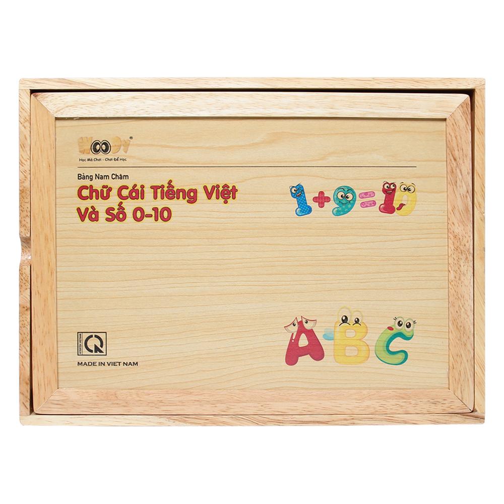 Bảng nam châm Woody chữ cái Tiếng Việt và số