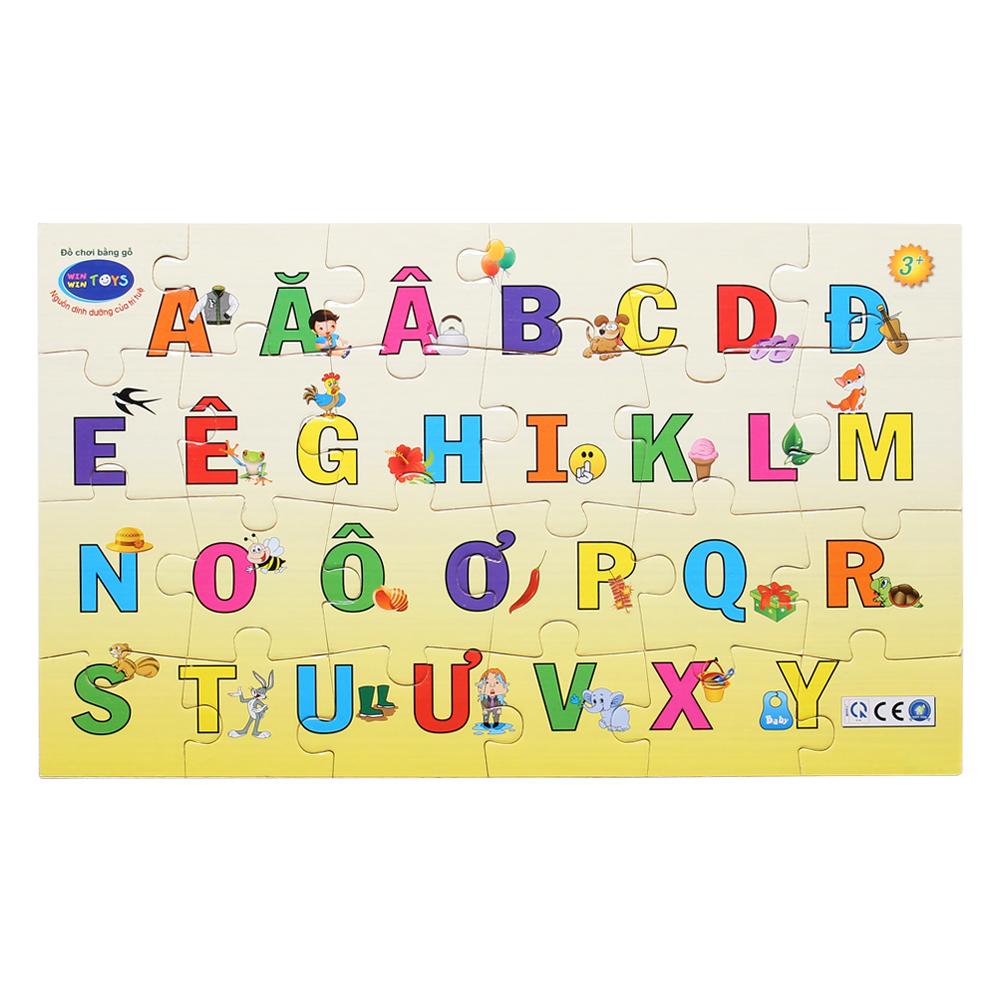 Bảng gỗ bé vui học chữ Winwin Toys 68442