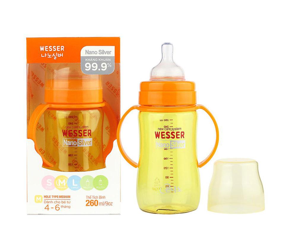 Bình sữa Wesser Nano Silver 260ml