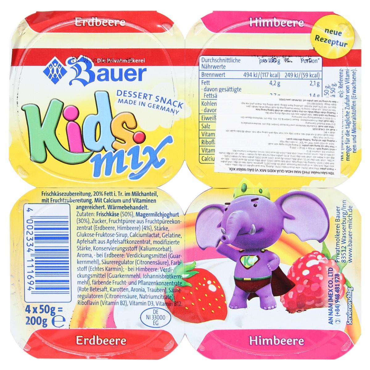 Phô mai hoa quả Kids Mix (1 hộp)