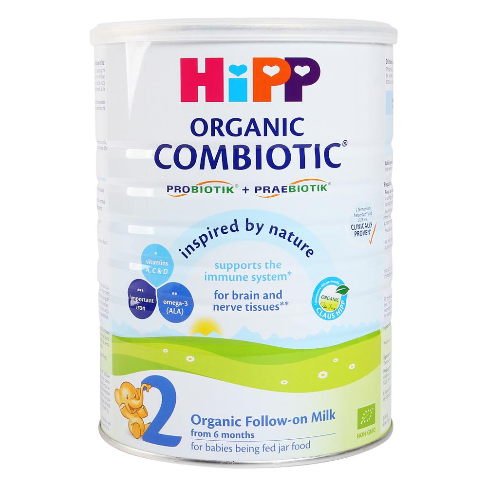Sữa HiPP Combiotic Organic số 2 800g (Trên 6 tháng)