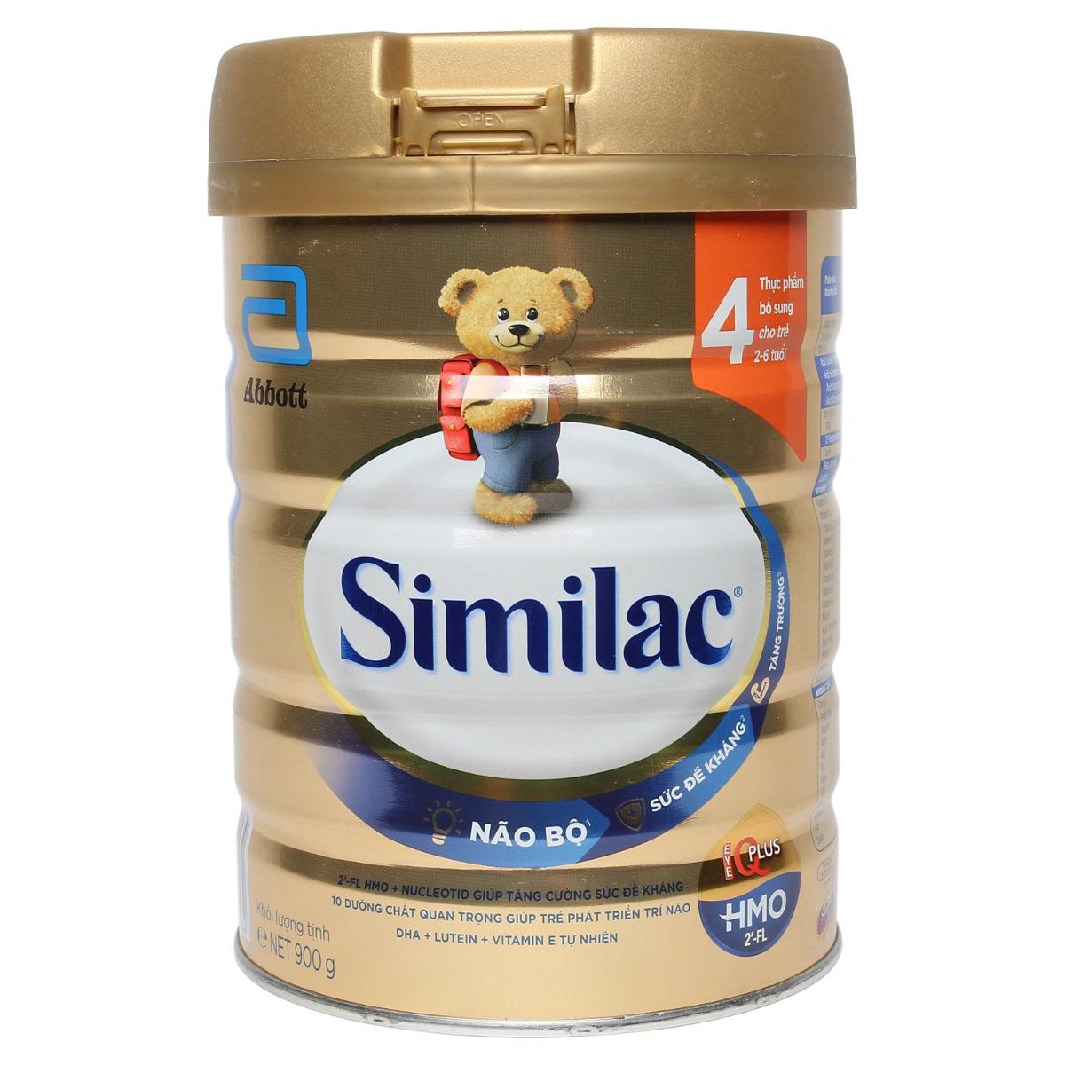 Sữa Similac HMO IQ Plus số 4 hương vani 900g (2 - 6 tuổi)