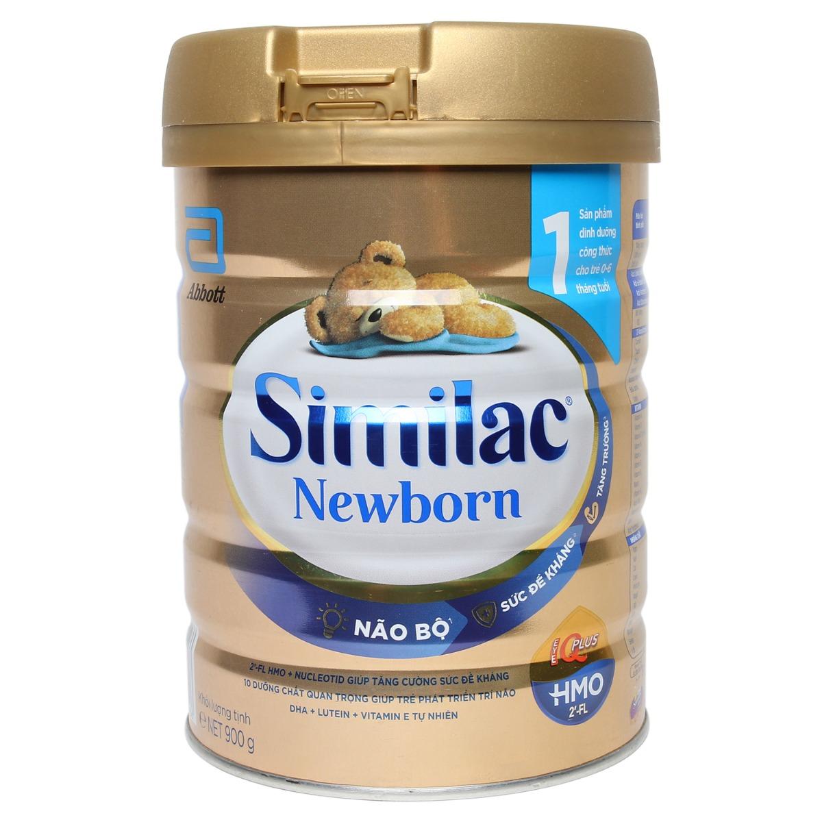 Sữa Similac IQ Plus HMO Newborn số 1 900g (0 - 6 tháng)