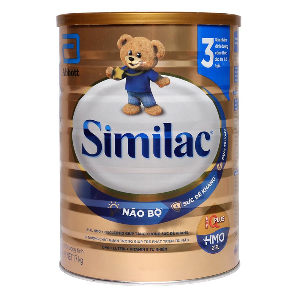 Sữa Similac HMO IQ Plus số 3 hương vani 1.7 kg (1 - 2 tuổi)