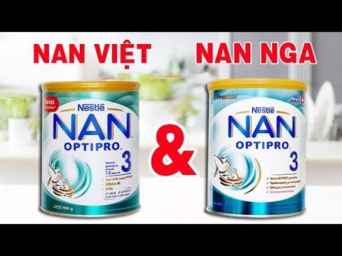 So sánh sữa Nan Nga và sữa Nan Việt