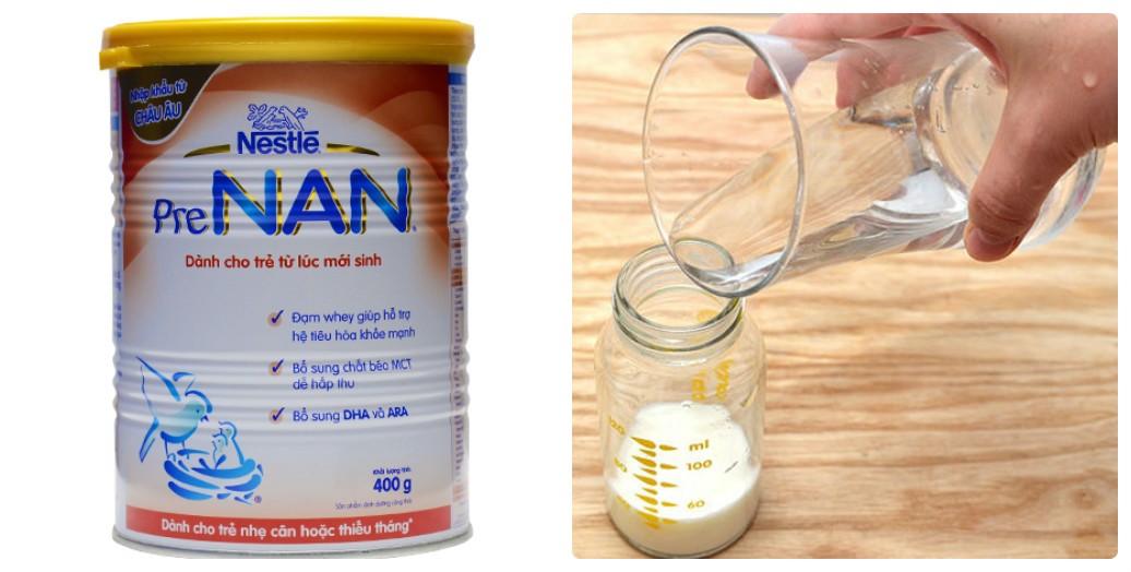 Cách pha sữa Nan đúng cách cho bé