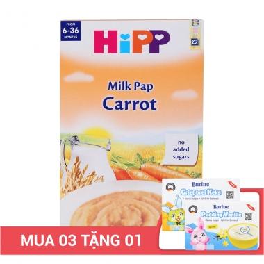 Bột ăn dặm HiPP sữa và cà rốt 250g (Trên 6 tháng)