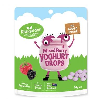 Sữa chua khô không đường Kiwigarden vị berries 14g