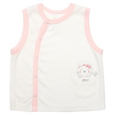 Áo gile cài lệch bé gái Bibo's CNA T310133 trắng