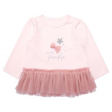 Áo dài tay bé gái Bibo's BST Star hồng