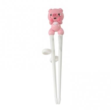 Đũa nhựa tập ăn Edison hình heo hồng