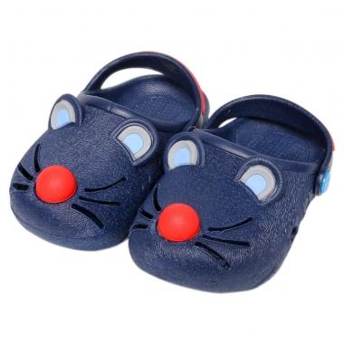 Giày nhựa JiaJiaBear chuột đen