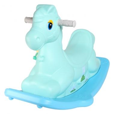 Bập bênh hình con ngựa DQ-Y416 màu xanh