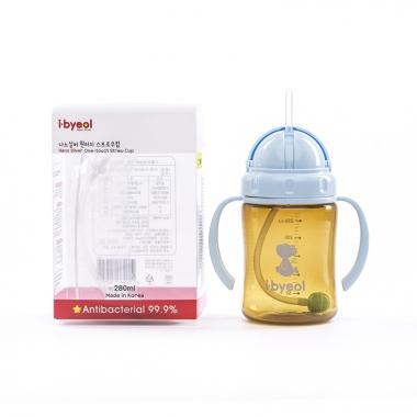 Bình uống nước I-Byeol Nano Silver màu xanh 280ml (Trên 6 tháng)