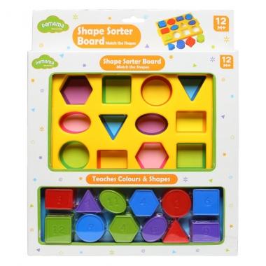 Đồ chơi thả khối hình học Pamama màu sắc P0103