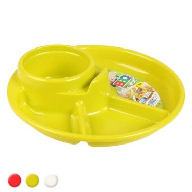 Khay ăn trẻ em 3 ngăn kèm ngăn để cốc và để thìa dĩa