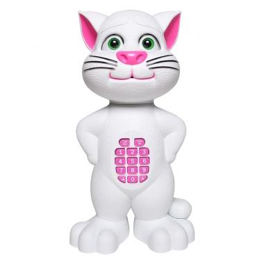 Đồ chơi chú mèo cảm ứng điện thoại lớn màu trắng LT268-899A