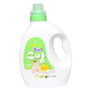 Nước giặt xả hữu cơ SHOOMOM 2 trong 1 1.8L