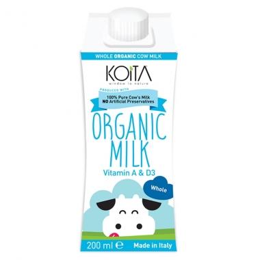Sữa bò hữu cơ Koita nguyên kem 200ml