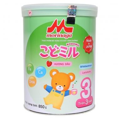 Sữa Morinaga Kodomil số 3 hương dâu 850g (Trên 3 tuổi)