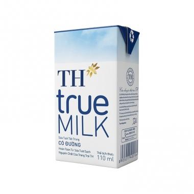 Sữa tươi tiệt trùng có đường TH True Milk 110ml