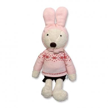 Thỏ bông mặc áo len