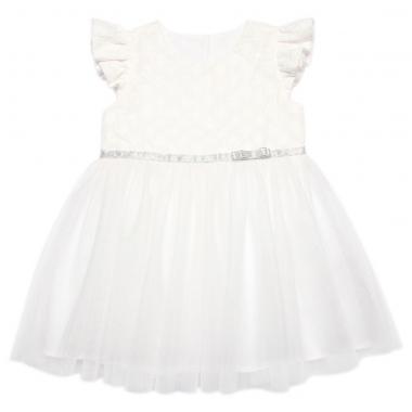 Váy bé gái Bibo's thêu hoa phối tu tu trắng