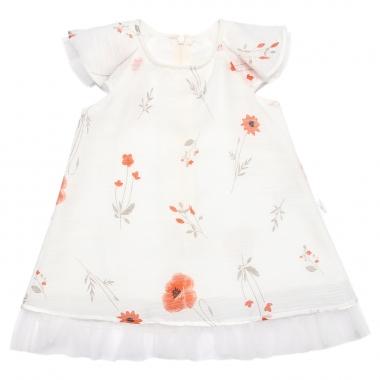 Váy tơ hoa trắng Bibo's phối voan