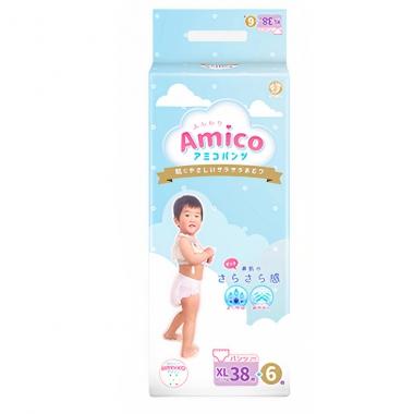 Bỉm - Tã quần Amico size XL 38 + 6 miếng (Cho bé 12 - 17kg)